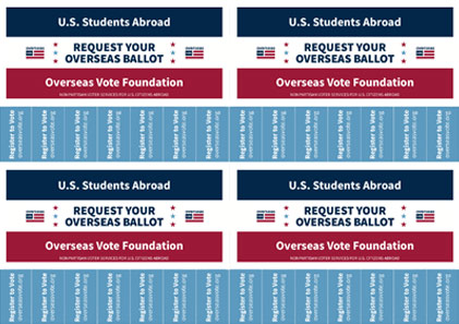 study abroad and vote  tear off sheet