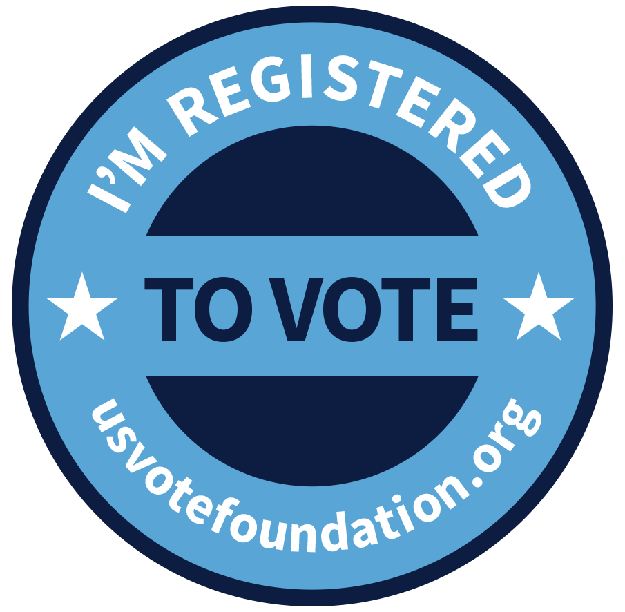 i'm registered to vote!